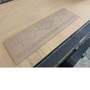 Reverse engraved for LED panel