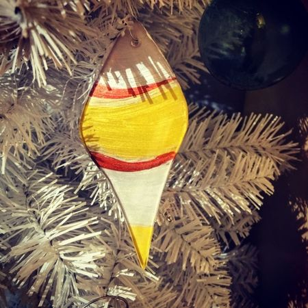 New in our gallery, Panted acrylic tear drop ornaments, Stop by today!