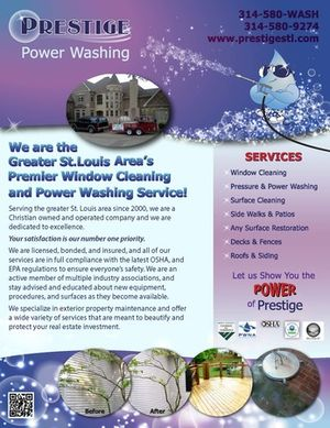 Prestige Power Washing is a Christian owned and operated business - we hope that our service reflects our dedication to excellence. Contact us today!