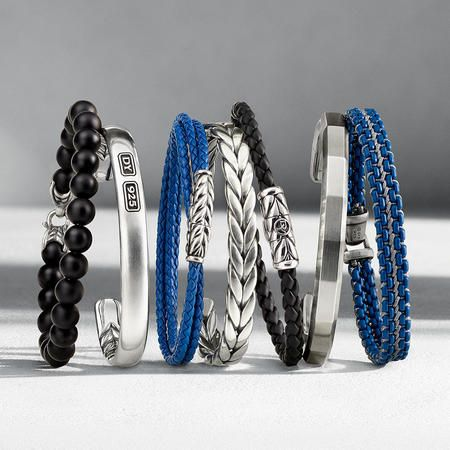 Men's Bracelets—Contemporary takes on classics made from timeless and unconventional materials.