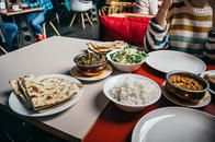 We specialize in traditional, authentic Indo-Pak cuisine and serve a variety or Indian and Pakistani food options!