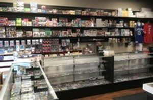 We have a large selection of sports cards and memorabilia!
