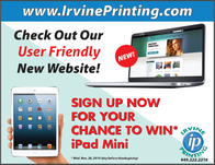 Place an order online to be automatically entered into a drawing for a chance to win an iPad Mini
