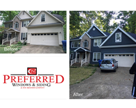 Another high quality siding replacement from Preferred Windows and Siding!