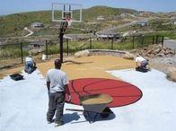 Basketball court builder San Diego