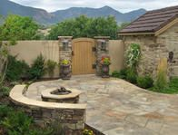 Outdoor patio design in Colorado Springs, CO.
