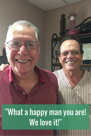 What a happy man you are! We love it!