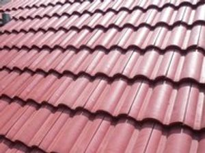 Red Residential Concrete Tile Roof