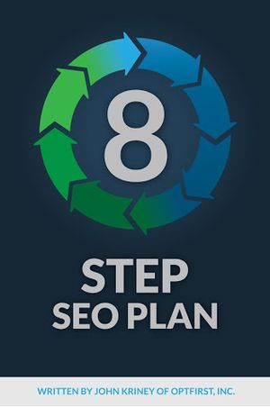 """12+ years experience compiled into a single book. OptFirst is proud to announce it's first book. The """" 8 Step SEO Plan """""""