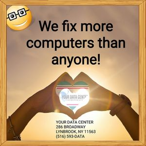 It happens.. and we're here to fix your computer when it does.  Full computer repair services on-site and in our store..