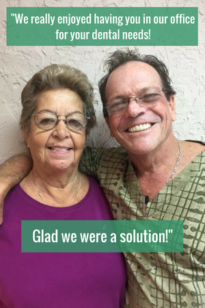 We really enjoyed having you in our office for your dental needs! Glad we were a solution!