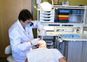 Dr Rodrick doing dental work.