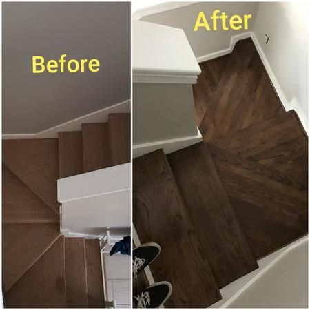 Before and after on stairs!