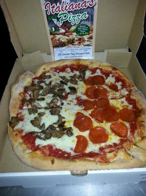 """12"""" Mushrooms and Pepperoni Pizza"""