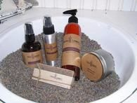 Some of our lavender products for bath & body