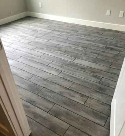 Wood like porcelain tile we installed!