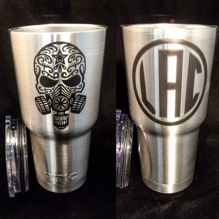 So far my favorite Design! Stainless Steel 30oz Tumblers. Custom Engraved and permanent marked.
