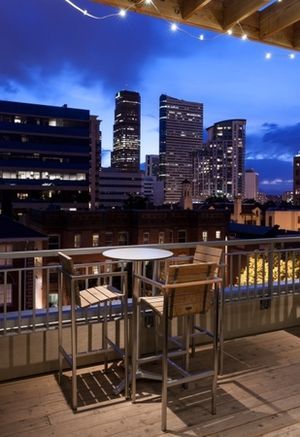 One of Four Roof Top Terraces at One City Block