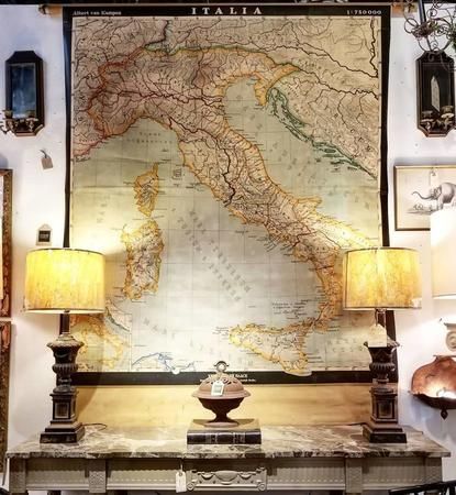 Italia Early 20th Century Carte Map...that's amore!