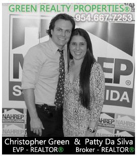 Chris Green REALTOR/Manager and Broker Patty Da Silva of Green Realty in Cooper City