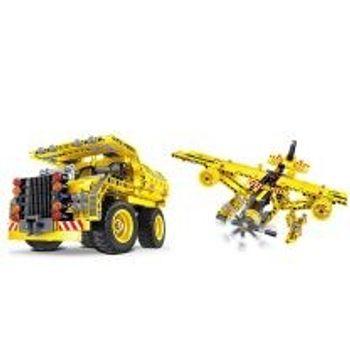Σετ Κατασκευής Dump Truck & Plane 2σε1 (361 Κομμάτια)