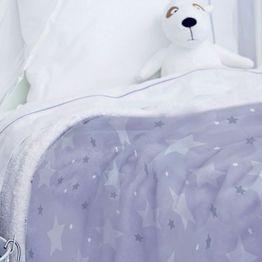 Κουβέρτα Βρεφική Fleece Sky Girl Lila Palamaiki