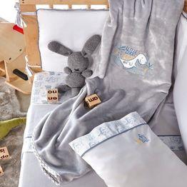 Κουβέρτα Βρεφική Velour Fleece Yossi Baby Grey Kentia