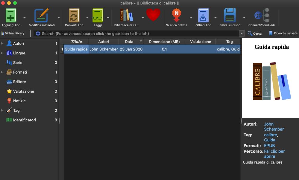 [MAC] Calibre 4.14.0 macOS - ITA