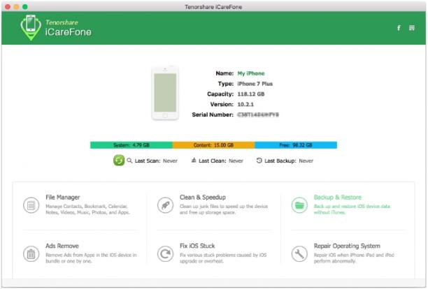 [MAC] Tenorshare iCareFone 6.0.0.16 macOS - ENG
