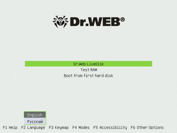 Dr.Web Live Disk CD/USB v9.0.0 (10.09.2017) - ENG