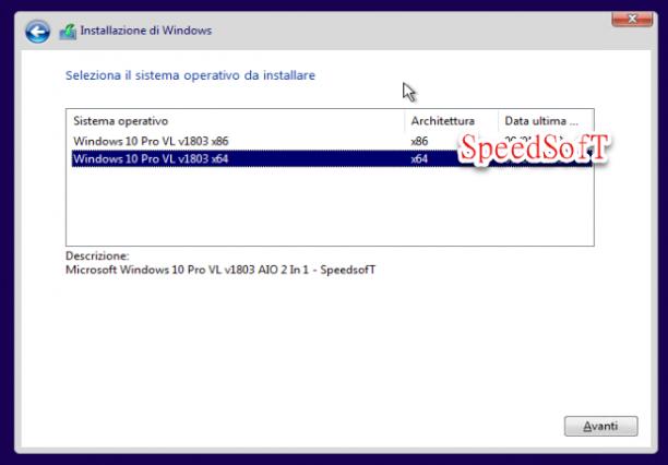 Microsoft Windows 10 Pro VL v1803 AIO 2 In 1 Spring Creators Update - Maggio 2018 - Ita