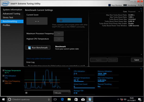 Intel Extreme Tuning Utility (Intel XTU) 6.5.1.360 - ENG