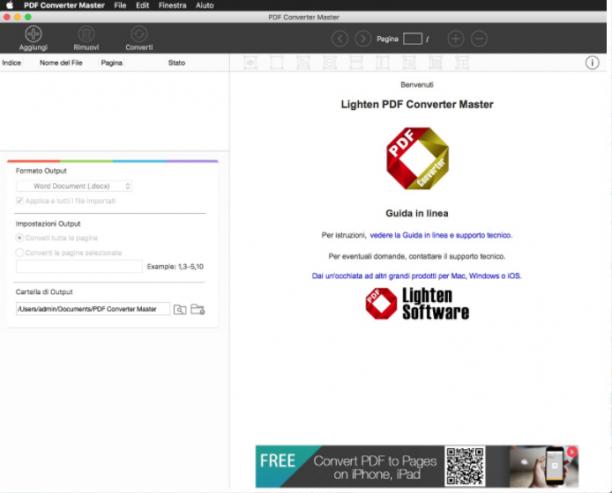 [MAC] Lighten PDF Converter Master v6.2.1 macOS - ITA