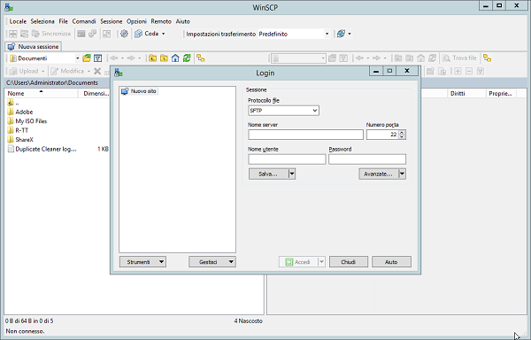 WinSCP 5.15.5 - ITA