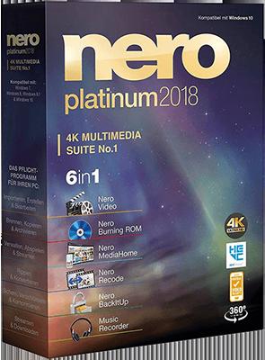 Nero Platinum 2018 Suite v19.0.07300   Content Pack - ITA