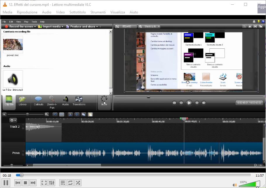 Udemy - Come creare e montare video con Camtasia Studio - ITA
