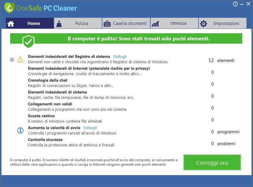 OneSafe PC Cleaner Pro 7.0.5.77 - ITA