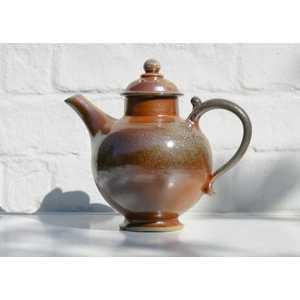 Soda glazed teapot h. 25cm