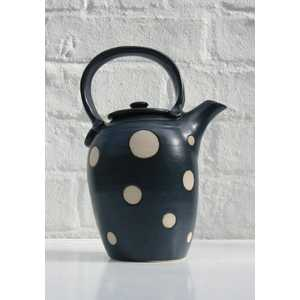 Spotted strap-handled teapot h.22cm
