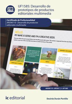 Desarrollo de prototipos de productos editoriales multimedia. ARGN0110 - Desarrollo de productos editoriales multimedia