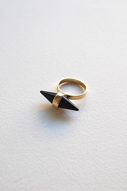 Black Spike Δαχτυλίδι - Χρυσό
