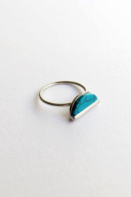 Moon Marble Δαχτυλίδι - Ασημί