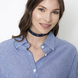 Denim Studs Choker - Μπλε