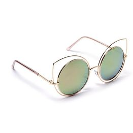 Cut Eye Round Shades - Χρυσό