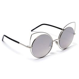 Cut Eye Round Shades - Ασημί