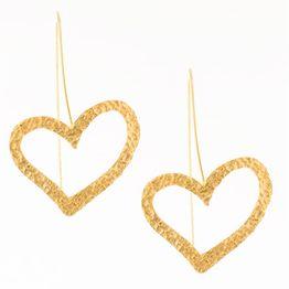 Σκουλαρίκια καρδιές από επιχρυσωμένο ασήμι