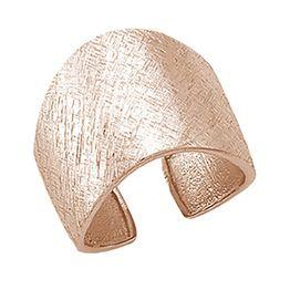 Σαγρέ δαχτυλίδι από ρόζ επιχρυσωμένο ασήμι