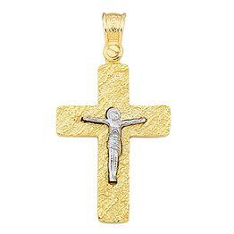 Βαπτιστικός σταυρός για αγόρι από χρυσό 14 καρατίων Σταυρός βάφτισης K14