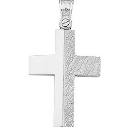 Βαπτιστικός σταυρός λευκόχρυσο 9 καρατίων | Σταυρός βάπτισης K9
