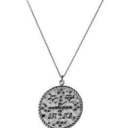 Φλουρί διπλής όψης κωνσταντινάτο από ασήμι - Coin necklace